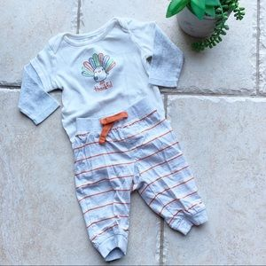 Boys Or Girls Thanksgiving Outfit 6-12 Months